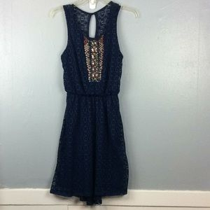 Maurices Ladies Beaded Blouson Hi Low Dress Sz XS